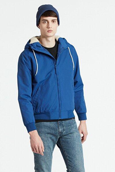 Erkek Lacivert The Hooded Sherpa Jacket 79070-0002