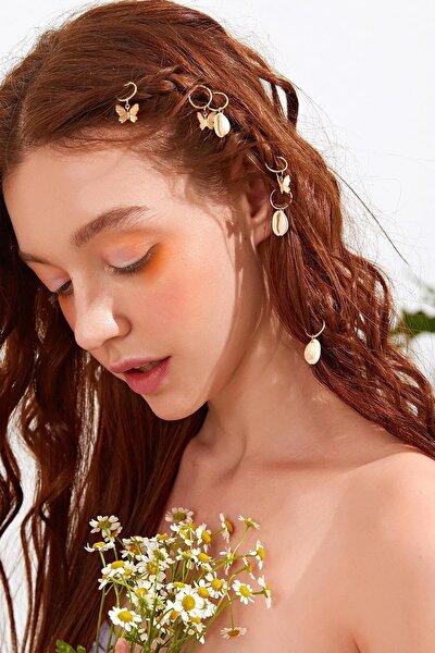 Kadın Güzel Yaz Figürlü Saç Küpesi Seti