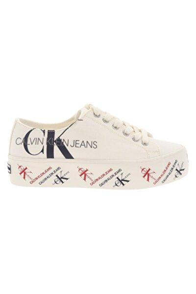 Zamira Kadın Logolu Beyaz Sneaker