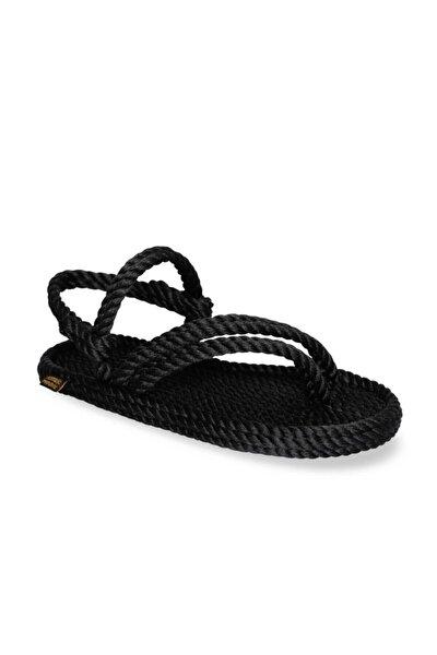 Cancun Kadın Halat Sandalet - Siyah