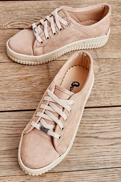 Bej Süet Kadın Sneaker K01590046472