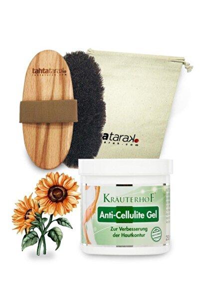 Selülit Karşıtı Doğal At Kılı Fırçası + Anti-cellulite Selülit Jeli 250 ml