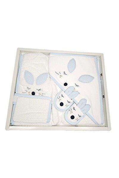Erkek Bebek Bornoz Takımı Tavşanlı 4 Parça 0-2 Yaş 100834