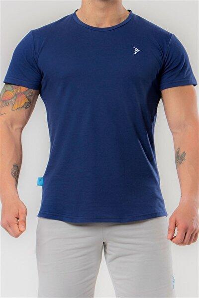 Erkek Lacivert Pike Kısa Kollu Basic Tişört