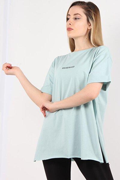 1068 Reserved Baskılı T-shirt