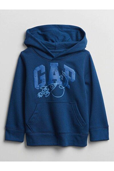 Erkek Bebek Logo Kapüşonlu Sweatshirt