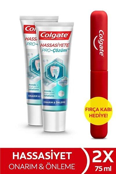 Hassasiyete Pro Çözüm Onarım ve Önleme Diş Macunu 75 ml x 2 Adet + Fırça Kabı Hediye