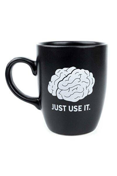 Just Use It Siyah Oval Kupa