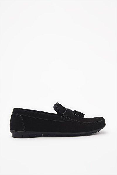 Hakiki Deri Siyah Loafer Ayakkabı 02AYH206200A100