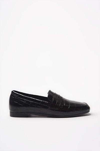 Siyah Kadın Loafer Ayakkabı 01AYY204580A100