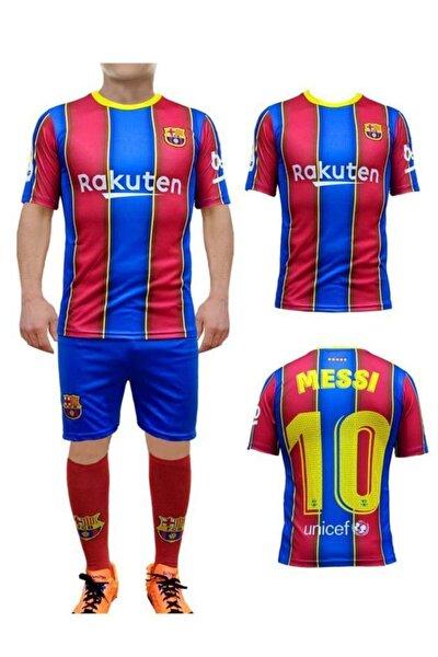 Erkek Çocuk Barcelona Messi Forma Takımı Forma Şort Çorap