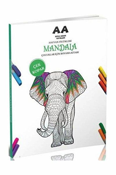 Hayvan Figürleri Mandala Çocuklar İçin Boyama Kitabı