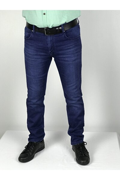 Erkek Mavi Regular Fit Jean Pantolon