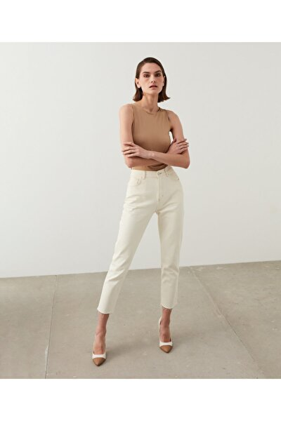 Slim Straight Cropped Jean Pantolon
