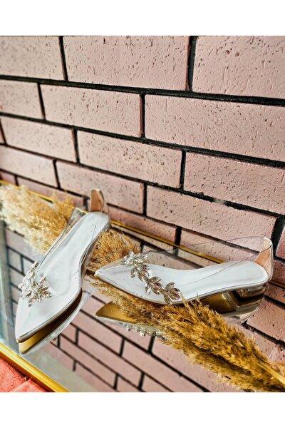 Taş Detaylı Şeffaf Babet Kadın Ayakkabı