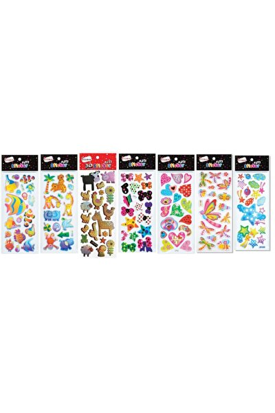 Sticker Puffy 7 Li Set (kabartmalı)