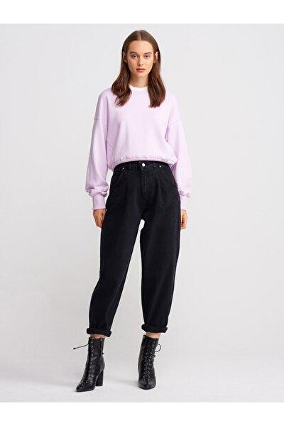 7431 Paçası Sasonlu Siyah Bol Pantolon-siyah