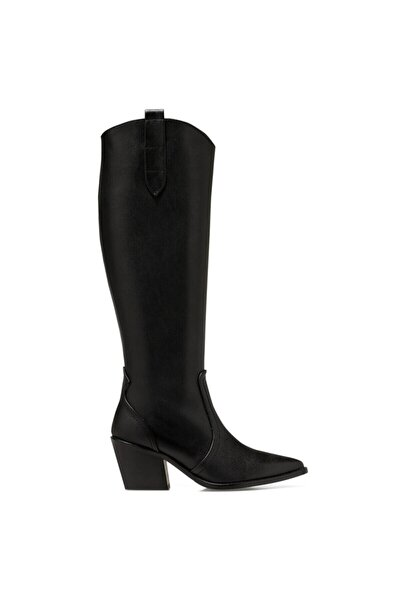 VINCENZA Siyah Kadın Ökçeli Çizme 100555812