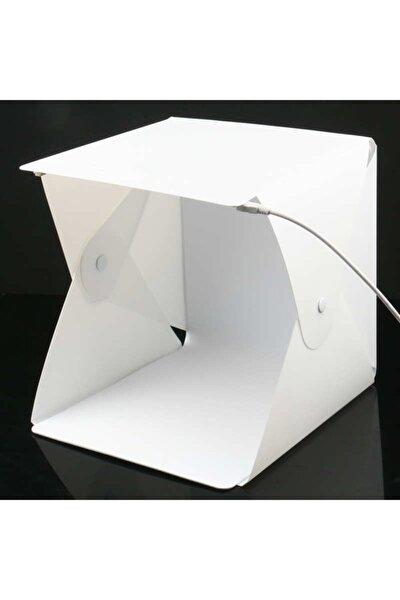 Portatif Led Işıklı Ürün Fotoğraf Çekim Çadırı 23x23cm Light Box