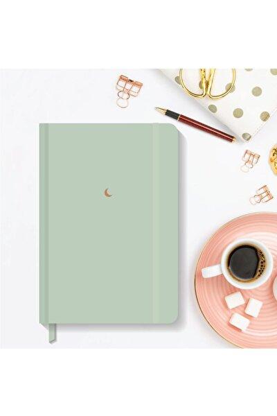 Notebook Lastikli Düz Çizgisiz Sert Kapak Defter 13x21 Cm Hardcover Notebook Green