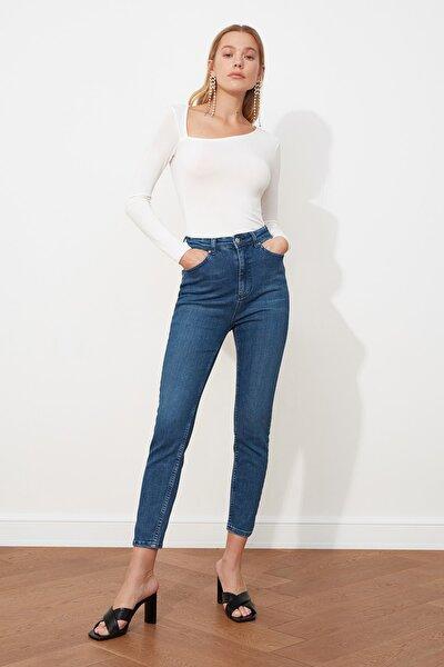 Lacivert Yüksek Bel Skinny Jeans TWOSS21JE0010