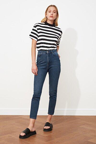 Koyu Mavi Yüksek Bel Skinny Jeans TWOSS21JE0010