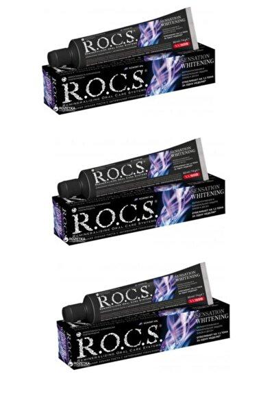 Rocs Sensation Whitening Beyazlatıcı Parlatıcı Diş Macunu 60 ml X3