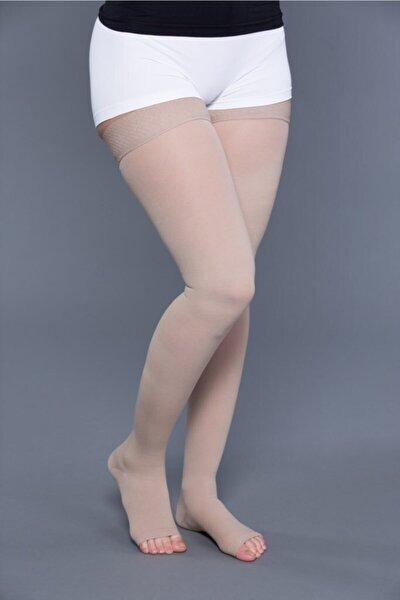 Diz Üstüsilikonlu Varis Çorabı (ccl Iı / 23-32 Mm.hg - Orta Basınç)açık Burun ® Orx-v 1002