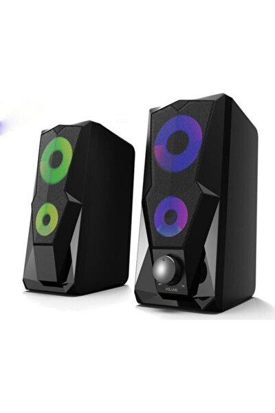 Kr-1002 Rocket 1+1 Led Işıklı Gaming Oyuncu Hoparlörü Speaker