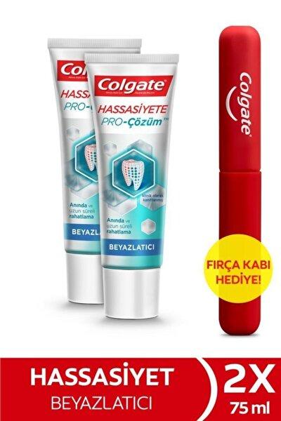 Hassasiyete Pro Çözüm Beyazlatıcı Pro Relief Diş Macunu 75 ml X 2 Adet Fırça Kabı Hediye