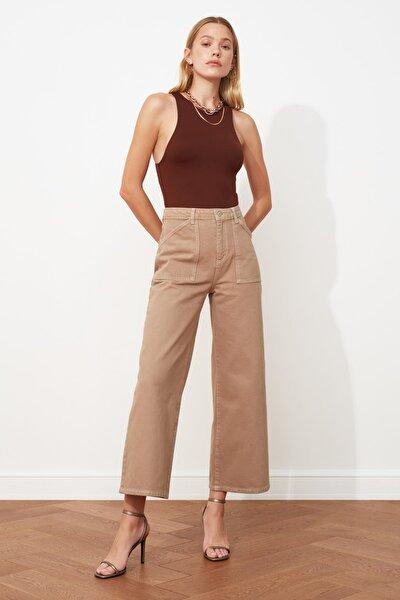 Taş Cep Detaylı Yüksek Bel Culotte Jeans TWOAW20JE0267