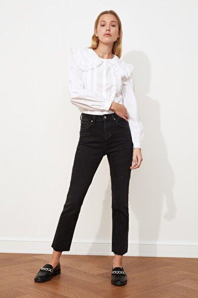 Antrasit Yüksek Bel Slim Mom Jeans TWOSS20JE0249