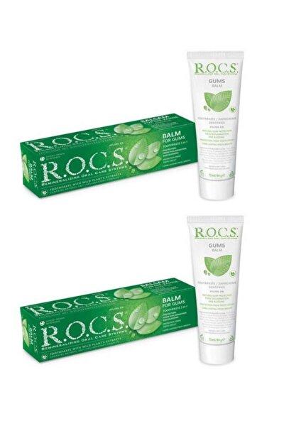 Rocs Gum Balm - Diş Eti Için Balsam - Dişeti Için Bitki Özlü Diş Macunu 75 Ml X2
