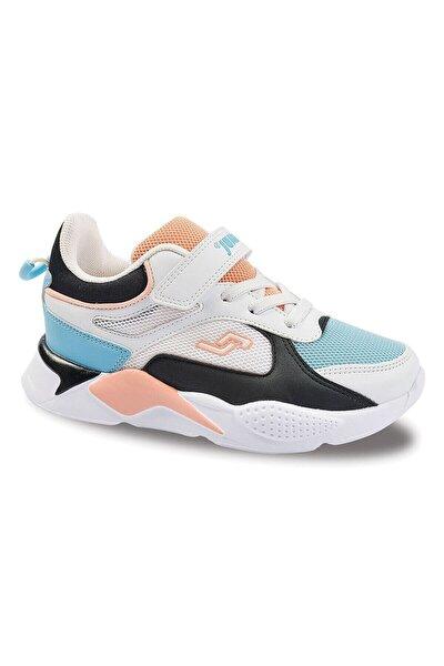 Unisex Beyaz Somon Çocuk Spor Ayakkabı 24931