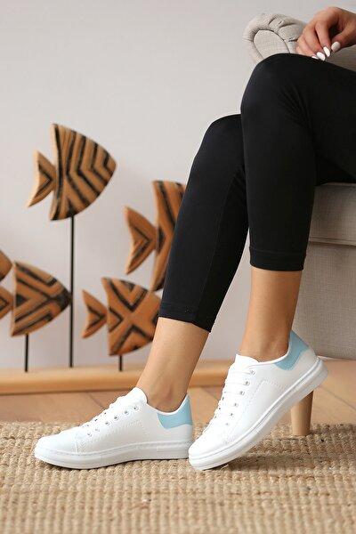 Kadın Beyaz Mavi Casual Ayakkabı
