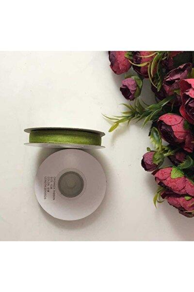1 Cm 25 Metre Çimen Yeşili Organze Kurdele Bebek Magnet Süsleme, Nikah, Doğum Günü, Hobi Süsleri