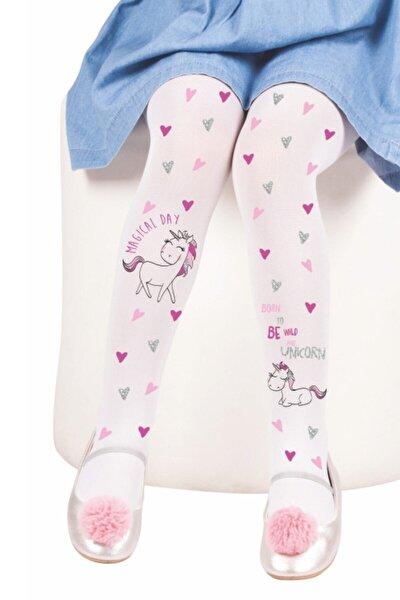 Kız Çocuk Beyaz Daymod Çisem Külotlu Çorap