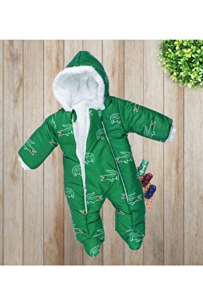 Bebek Timsah Desenli Pamuklu Içi Kürklü Astronot Tulum