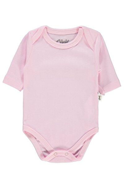 Unisex Bebek Pembe Çıtçıtlı Body