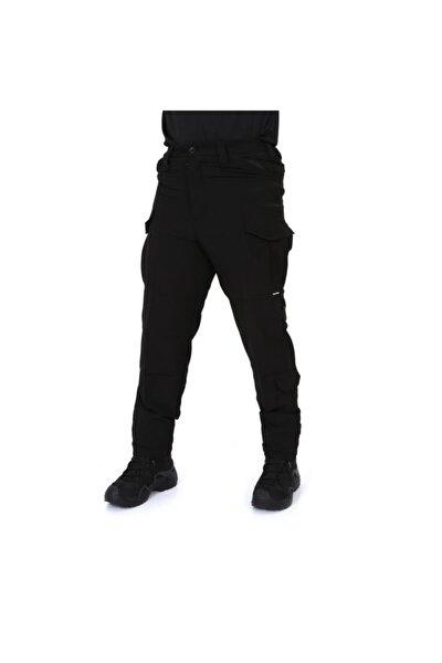 Single Likralı Siyah Tactical Kargo Pantolon