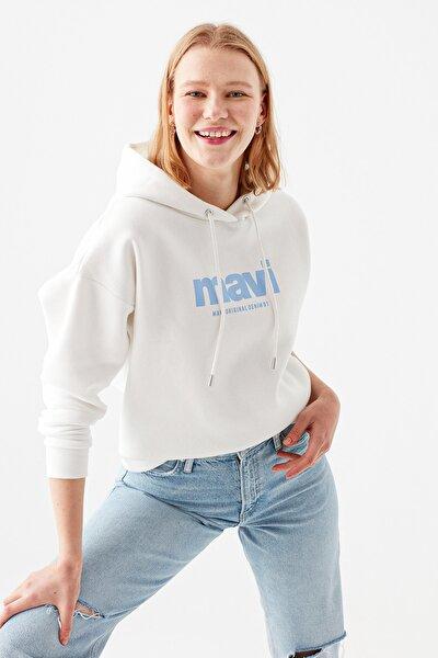 Logo Baskılı Beyaz Sweatshirt 168334-33389