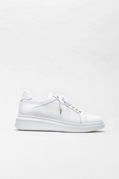 Erkek Beyaz Deri Ayakkabı