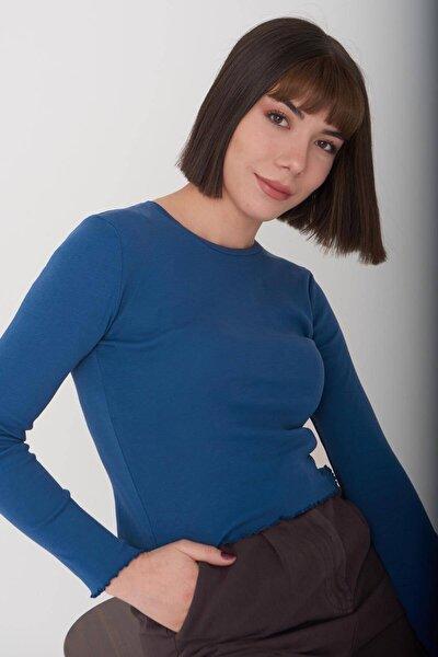 Kadın İndigo Basic Bluz P1084 Adx-0000023311