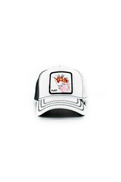 Unisex Big Flirt Beyaz Standart Şapka 101-0686