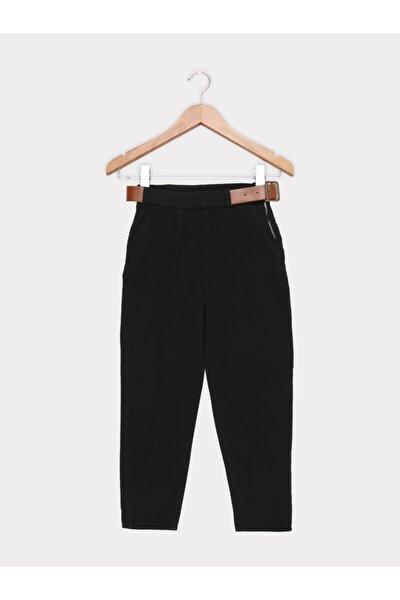 Kadın Siyah Kemer Aksesuarlı Pantolon 4259-002