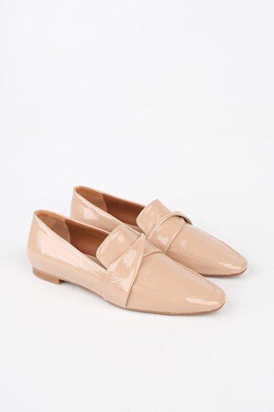 Kadın Bej Rugan Loafer Ayakkabı Rezva