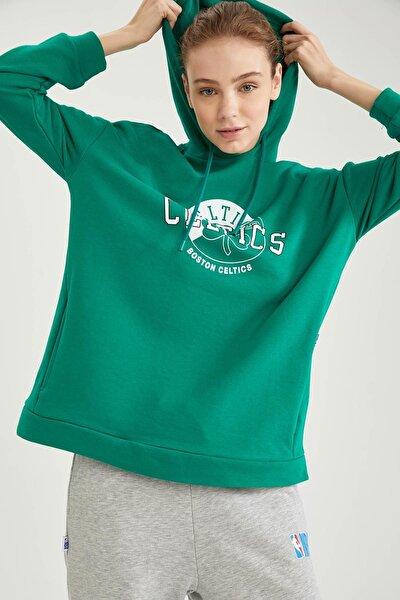 Kadın NBA Lisanslı Kapusonlu Oversize Sweatshirt T5427AZ21SP