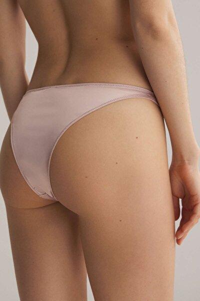 Kadın Pembe Saten Brezilya Modeli Külot 30073082