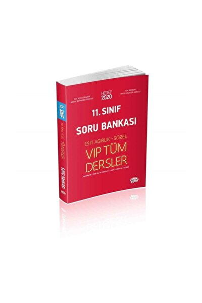Editör Yayınları 11. Sınıf Vıp Tüm Dersler Eşit Ağırlık Sözel Soru Bankası