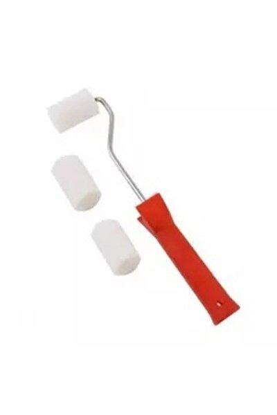 Kırmızı Saplı Sünger Rulo Fırça 5 cm